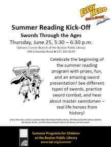 summer reading kickoff flyer