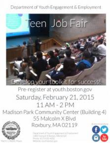 teen job fair flyer