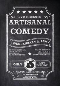 info on artisanal comedy night