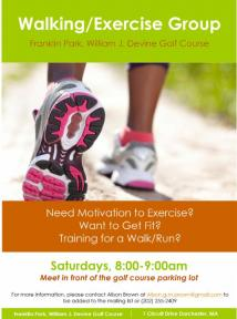 walking exercise group flyer