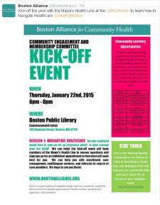 community health kickoff
