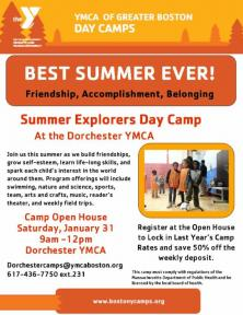 ymca day camp open house flyer